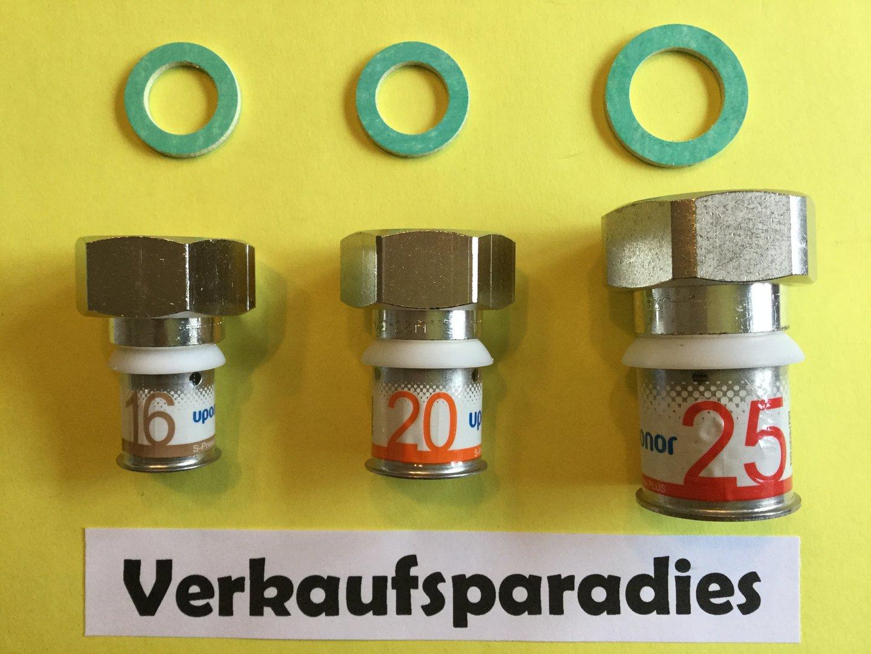 Uponor,Unicor,Unipipe,Metall Pressfitting T-Stück mit AG 16 25 mm